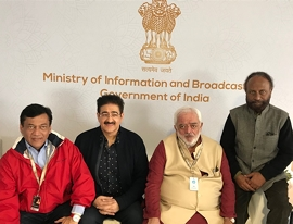 Sandeep Marwah Honored At Cannes With Life Time Achievement Award