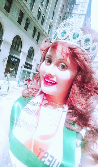 Popular Queen of Universe -2019  Angel Tetarbe As Celebrity Guest Of Honor In Manhattan India Day Parade – New York
