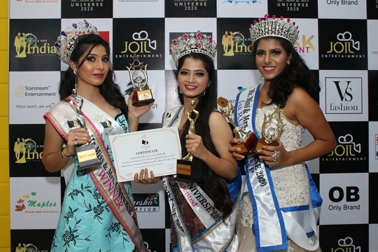 Miss Samiksha Bhosle  Winner Of Prestigious Award  Miss Universe 2020 An Pageant By Sandy Joil