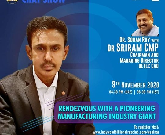 Indywood Billionaires Club to invite a leading Manufacturing Industry giant for its 13th edition of IBC Billionaires Chat Show