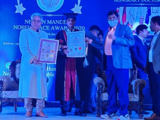 Business Tycoon Suraj Mate Honoured With Nelson Mandela Nobel Peace Award 2021