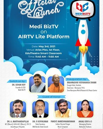 Access to Health Information is now just a Click away  Medibiz TV joins hands with Air TV