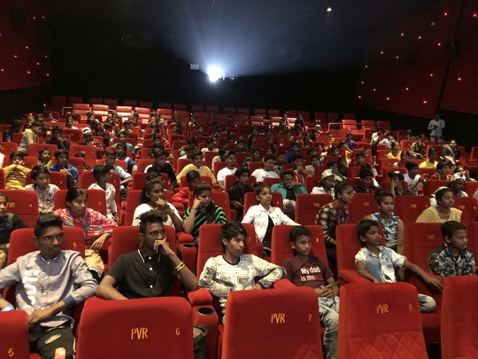 Save the Children Organized Special Screening Of Gully Boy For Street Children From Various Parts Of Mumbai at PVR Goregaon