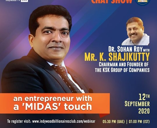 Indywood Billionaires Club hosted yet another successful online chat session presenting Mr K Shajikutty