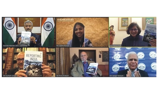 Union Minister S Jaishankar  Launches Veteran Journalist Prem Prakash's Book Reporting India – My Seventy Year Journey As A Journalist  At Kitaab Event
