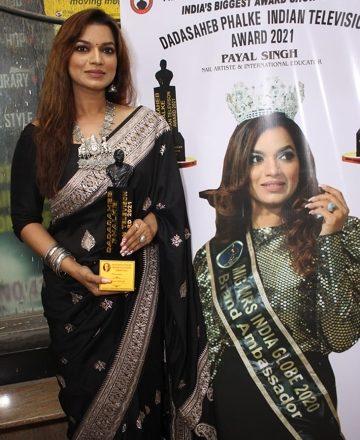 Actress Reddhima Tiwari, Shweta Sinha,Anjali Pandey, Payal Singh, Were Honored With Dadasaheb Phalke Indian Television Award