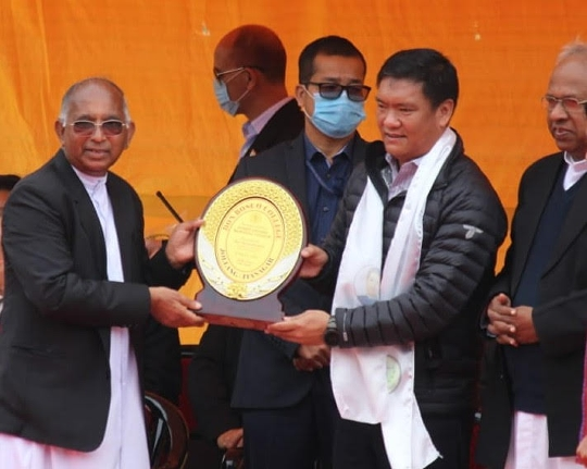 Arunachal CM Inaugurates Don Bosco College Stadium